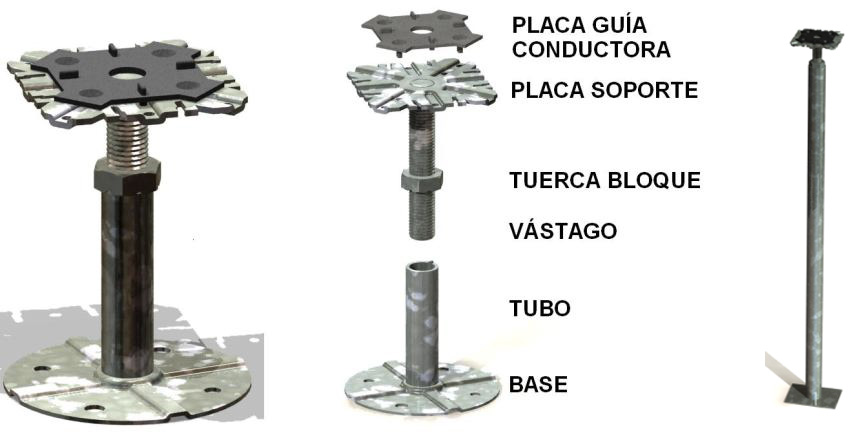 Pedestal de suelo técnico