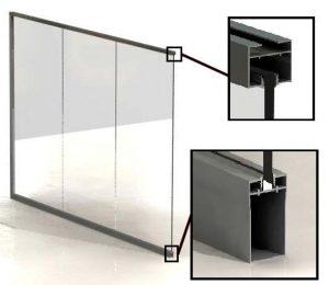 Mamparas divisorias vidrio