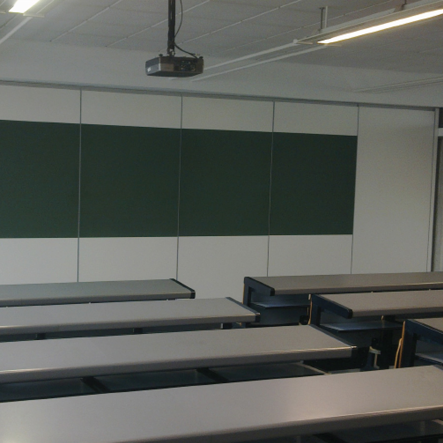 Tabiques móviles para aulas