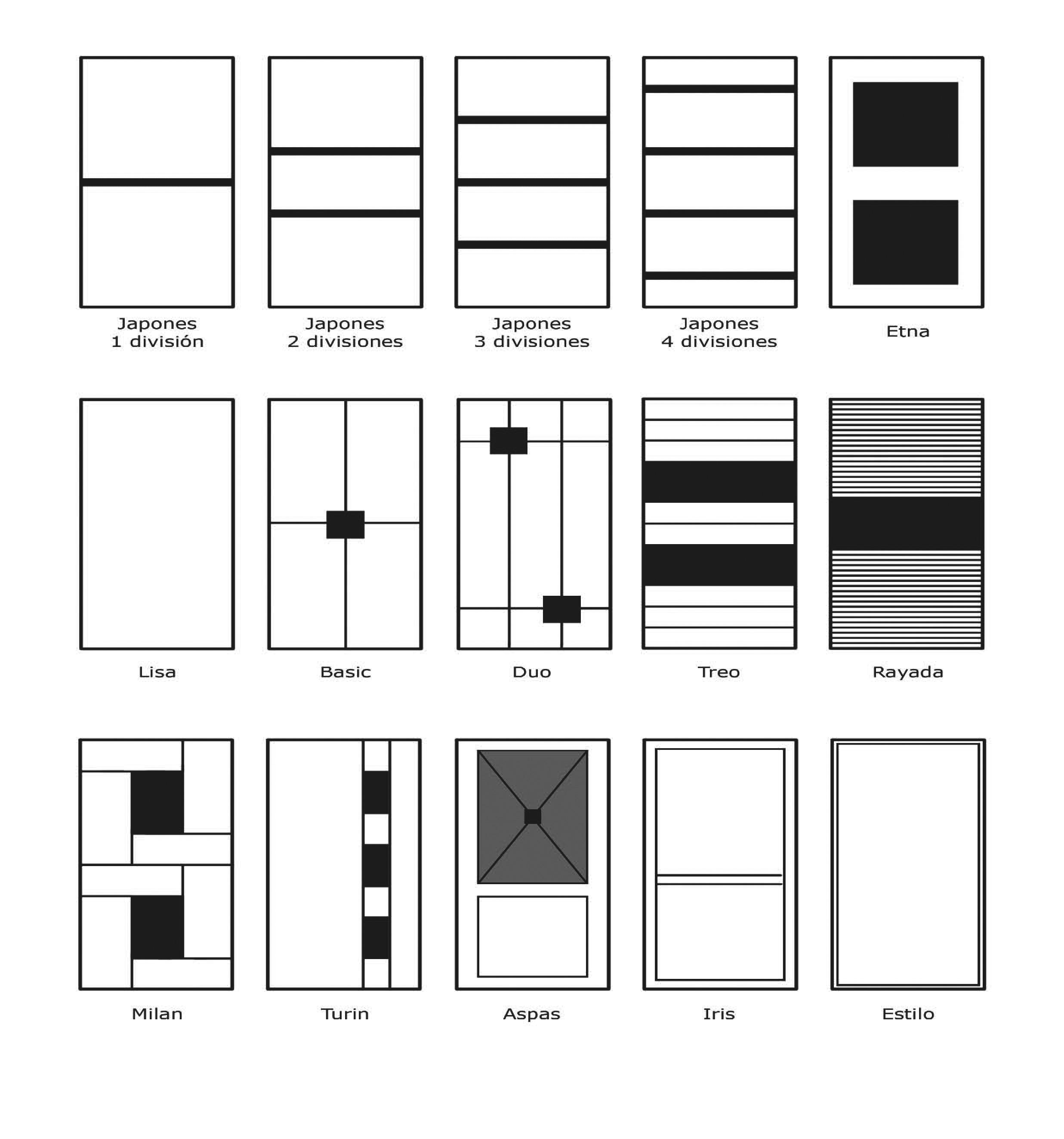 Tipos de puertas de armario