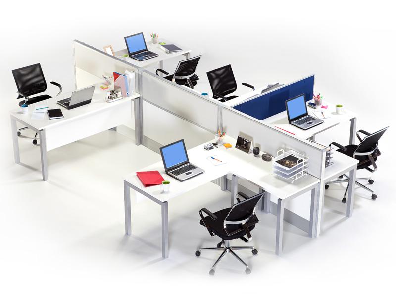 Oficinas modernas con mobiliario