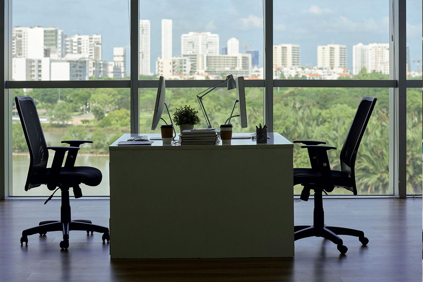 Diseño de una oficina elegante