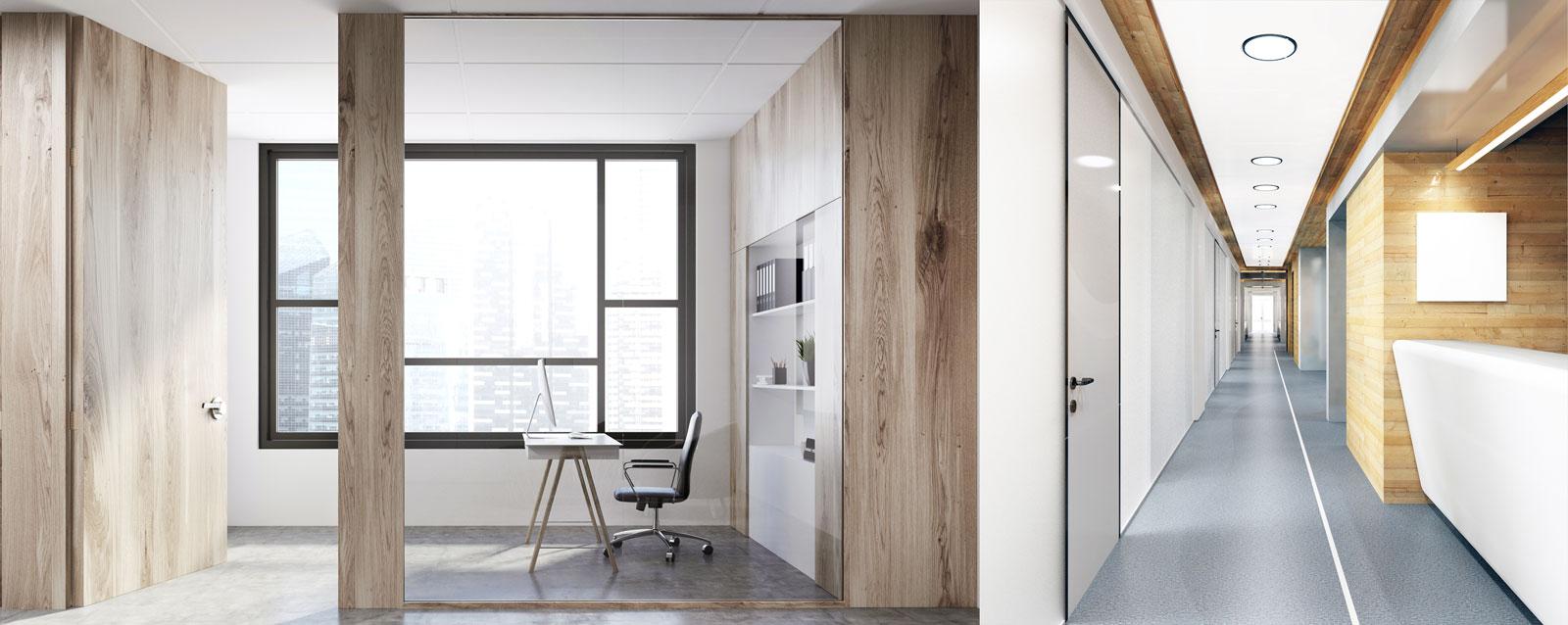 Forrado de oficinas con madera | DESMON
